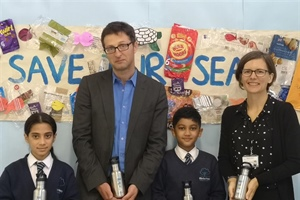 PUPILS VOW TO CUT OUT PLASTIC BOTTLES AS PART OF OCEAN-SAVING PROJECT