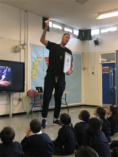 Basketball Player Inspires Wilberforce Pupils to Aim High